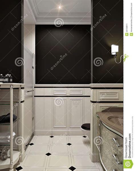 Schwarzes Badezimmer by Schwarzes Badezimmer Stockbild Bild Luxuri 246 S Retro
