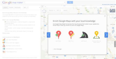 google layout maker google map maker finally adopts the new google design