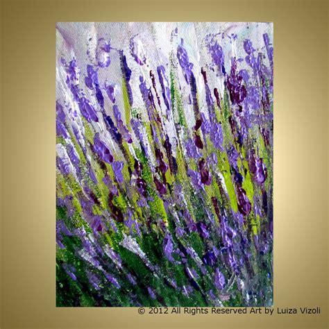 lavendar paint lavender field original oil painting modern impressionist
