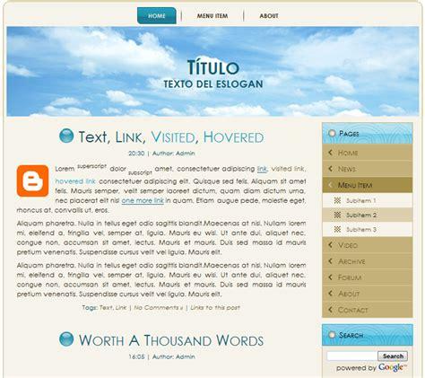 blogger themes with menu blog templates blogger configuraci 243 n de encabezado men 250 s
