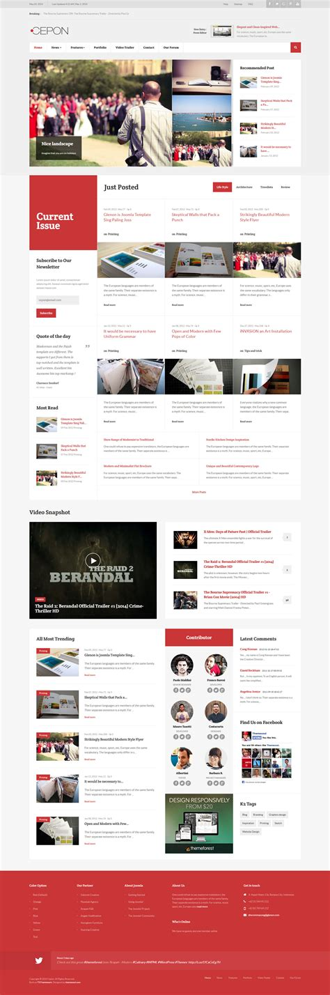 themeforest latest templates cepon news and magazine joomla templates by themesonic