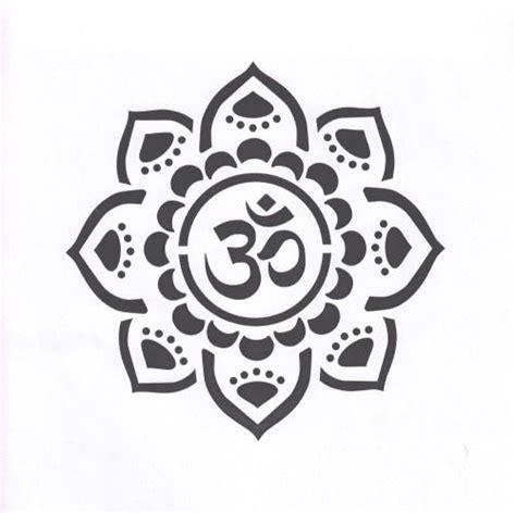 yoga stencil mandala stencil om mylar stencil om
