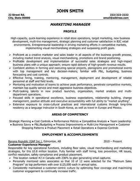 marketing director resume marketing resume the best executive resume