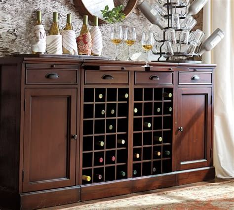 modular bar buffet with 2 wine grid bases 2 cabinets