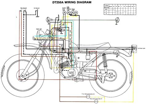 motor wiring yamaha dt250 wiring diagram it490 87