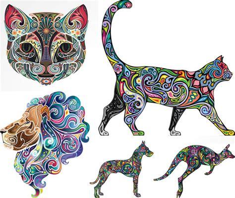 彩色动物图案设计