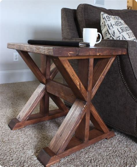 trestle side table   easy woodworking projects