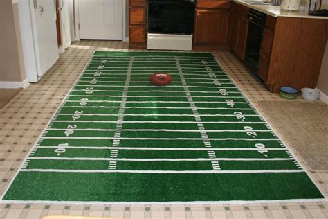 Diy Football Field Rug Pinteres Football Rugs For Rooms
