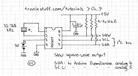 ds1307 circuit diagram arduino ds1307 power failure problem electrical