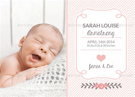 baby announcements templates birth announcement template baby by