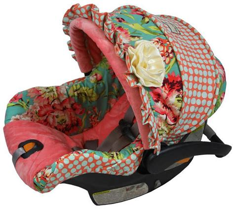 Handmade Car Seat Canopy - baby custom car seat cover 4 pc bliss custom baby car