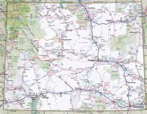 wyoming road map