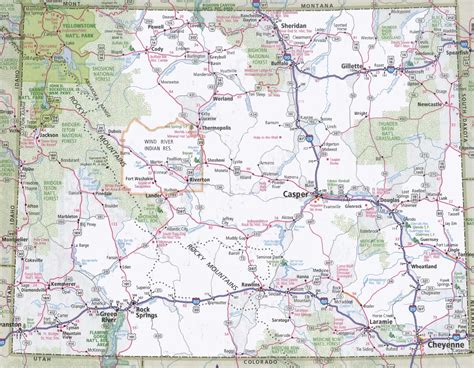 wyoming road map map of wyoming oregon map
