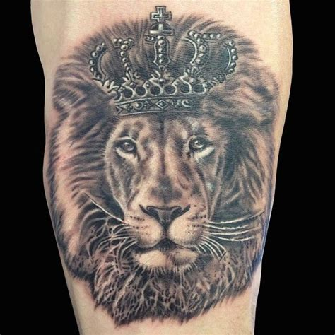 lion crown tattoo with crown tatoos search ideas
