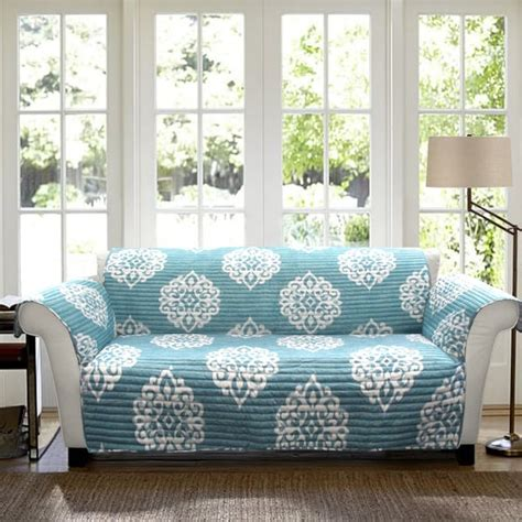 blue couch slipcover lush decor sophie sofa blue furniture protector slipcover