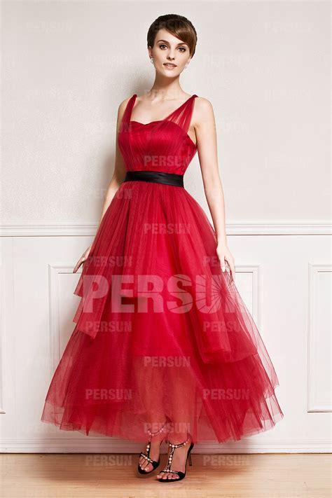 robe avec bretelles trap 232 ze en tulle longue au