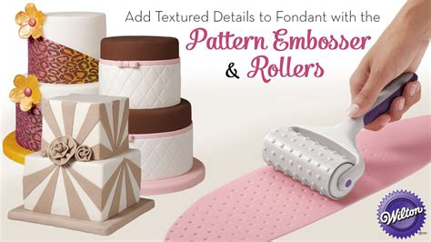 pattern roller for cakes add textured details to fondant with the wilton pattern
