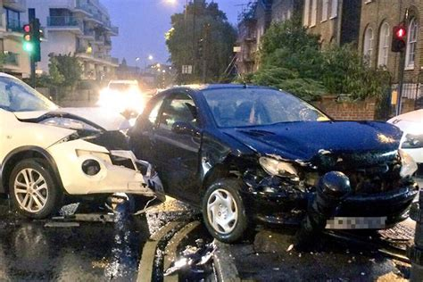 queensbridge motors taken to hospital after cars smash into each other