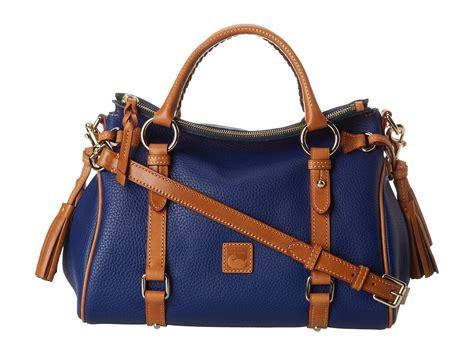 Dooney Bourke Ebelle5 Designer Dooney And Bourke Mini Handbag And Organizer Giveaway by Dooney Bourke Dillen 2 Small Satchel In Blue Cobalt Lyst