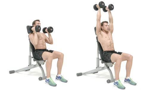 seated dumbbell bench press the problem with the seated shoulder press