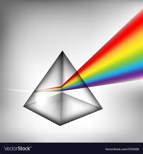 color prism 3d prism with light royalty free vector image vectorstock