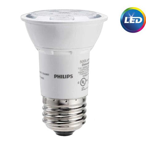 Lu Led Hannoch 7 Watt philips 50 watt equivalent par16 led energy light bulb bright white 464981 the home depot