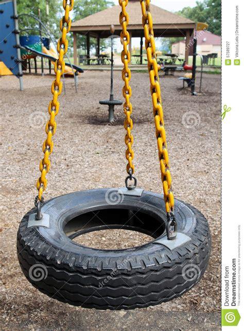 rubber tire swing rubber tire swing stock photo image 57589727