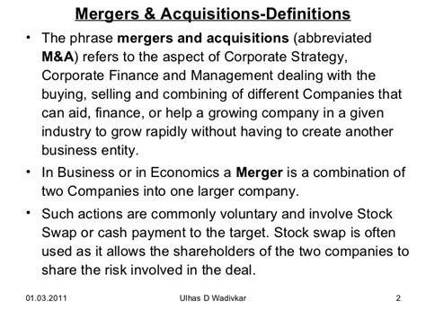 Merger And Acquisition Notes For Mba by Mergers Acquisitions For Mba
