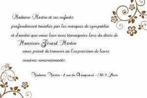 Lettre De Remerciement Obsèques Modele Lettre De Remerciement Condoleances