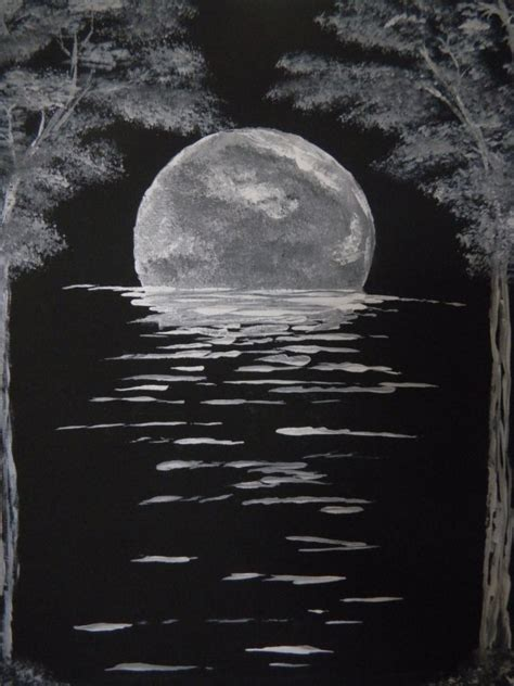 acrylic painting ideas black and white original acrylic painting landscape16x20 canvas by
