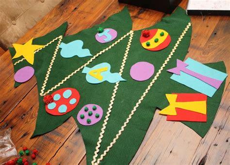 felt shingle tree diy christmas decorations kids will magnolia creative co diy tutorial felt christmas tree