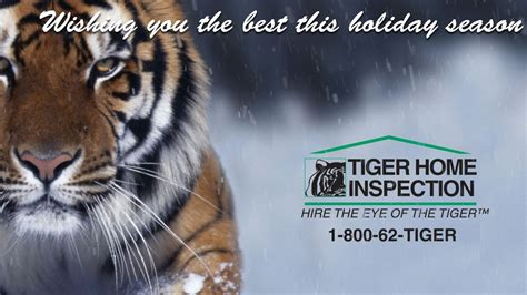 happy holidays from tiger home inspection