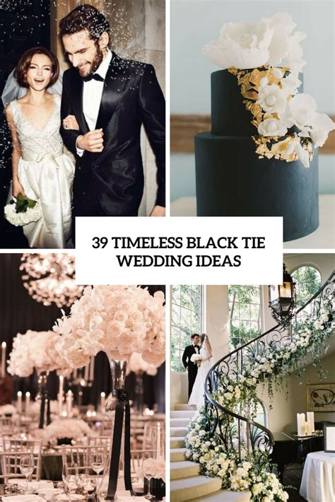wedding themes black tie decor archives weddingomania