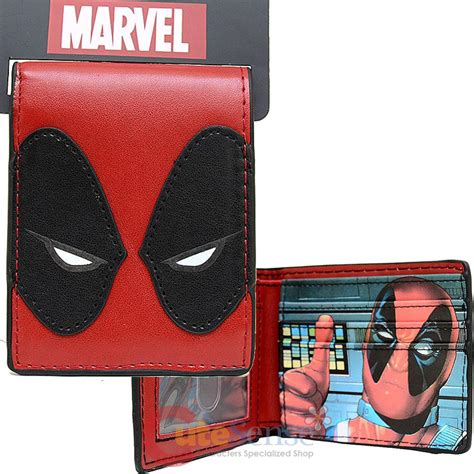 Istimewa Dompet Marvel Deadpool Model 3 Import marvel deadpool mask bi fold wallet leather mens wallet ebay