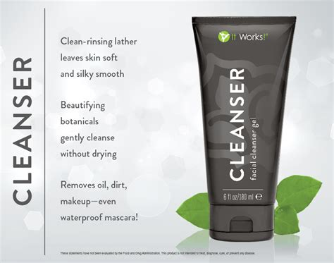 It Works Detox Cleanse Ingredients by It Works Cleanser Gel Skincare Products