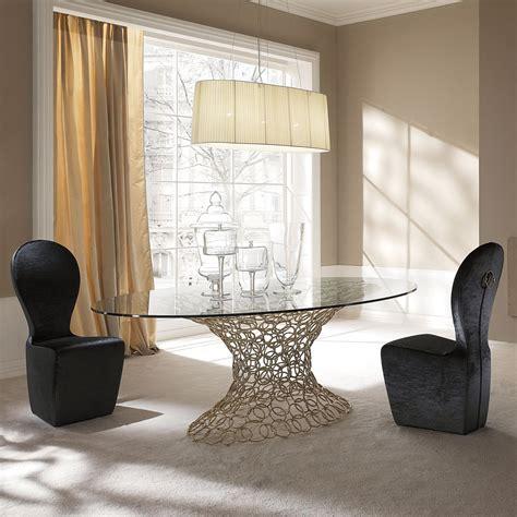 tavoli eleganti tavolo con piano in vetro mondrian di cantori arredaclick