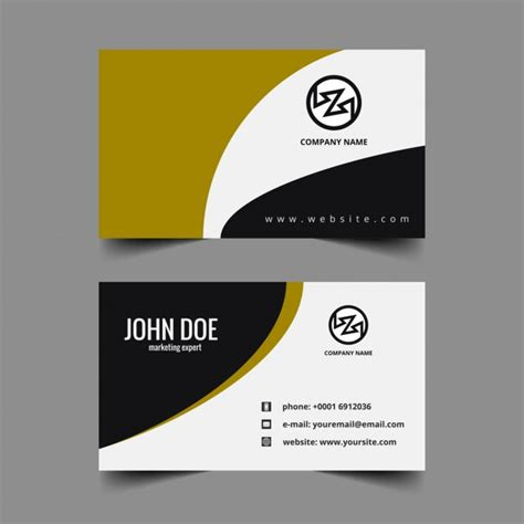business card template wavy wavy visiting card template vector free