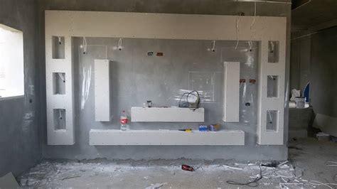 handmade gypsum board tv units    home decor