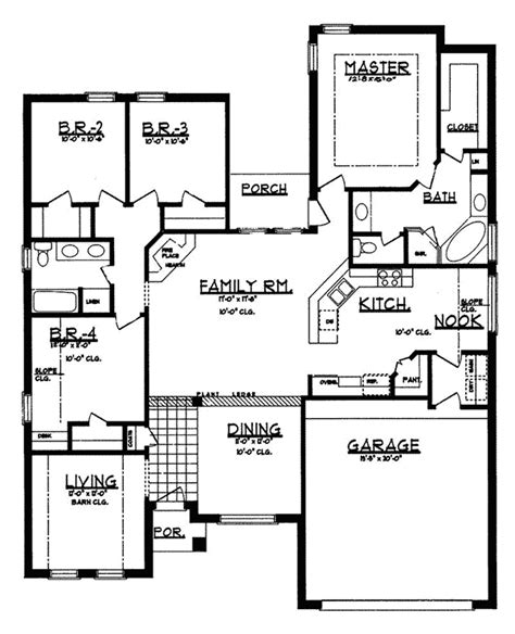 canton mill modern ranch home plan 031d 0010 house plans