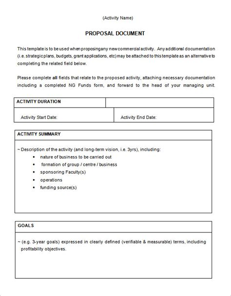 business proposal template 17 free sle exle