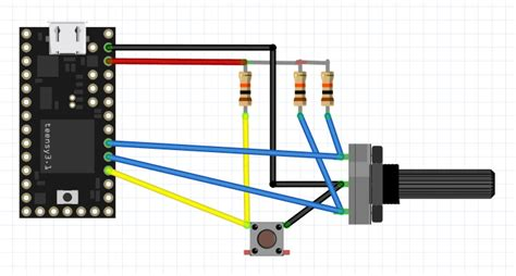 pull up resistor encoder rotary encoder routines for teensy axotron