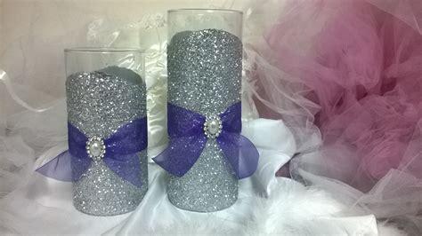 glitter vase wedding centerpiece wedding by thesparklebooth