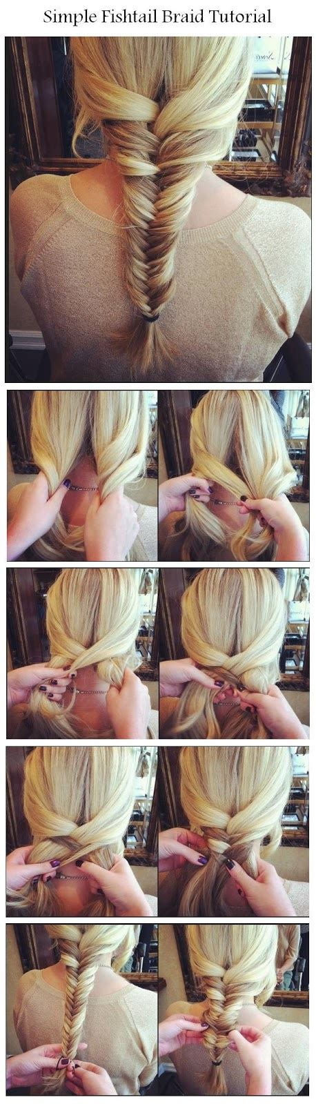 steps to show how to make fish tail favload new short hair styles make a simple fishtail braid