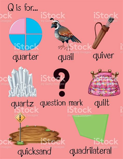 Start With The Letter Q preschool words beginning with the letter q two letter