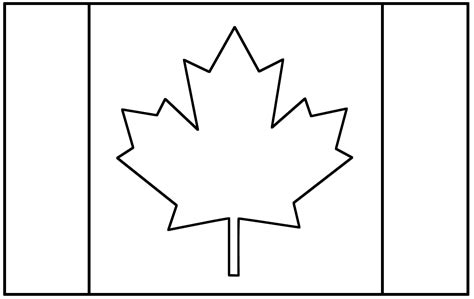 flag to colour template canadian flag template free clipart best