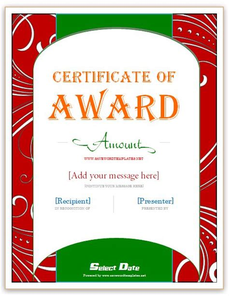 reward certificate templates 12 best images about gift certificate template on