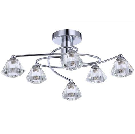 Ceiling Light Chrome by Semi Flush Ceiling Light 6 Light Chrome From