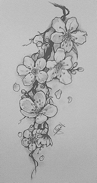 black and white cherry blossom tattoo designs tatto ideas 2017 black and white cherry blossom