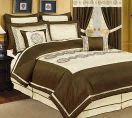 queen bed in a bag sets with love home decor 12pc pv beige choco bed in a bag