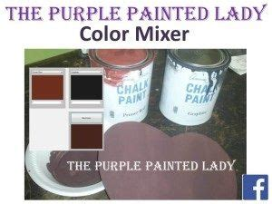 paint color mixing tool for sloan chalk paint from the purple painted